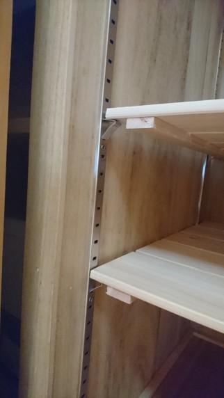 クローゼットのすのこ棚