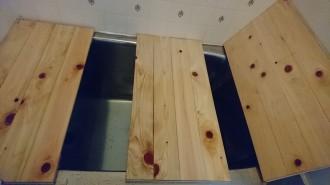 お風呂フタひのき板