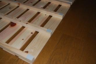すのこマット 2つ折 シングル (木工ロックタイプ)
