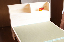 宮付きひのきすのこ畳ベッド ダブルB