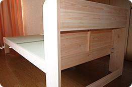 宮付きひのきすのこ畳ベッド セミダブルB